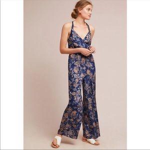 NWOT Anthropologie floral jumpsuit- Large